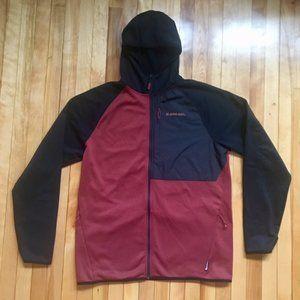 Armada Zip Fleece Ski Hoodie Red/Black - Men's XL